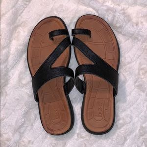 BOC Black Sandals Size 7